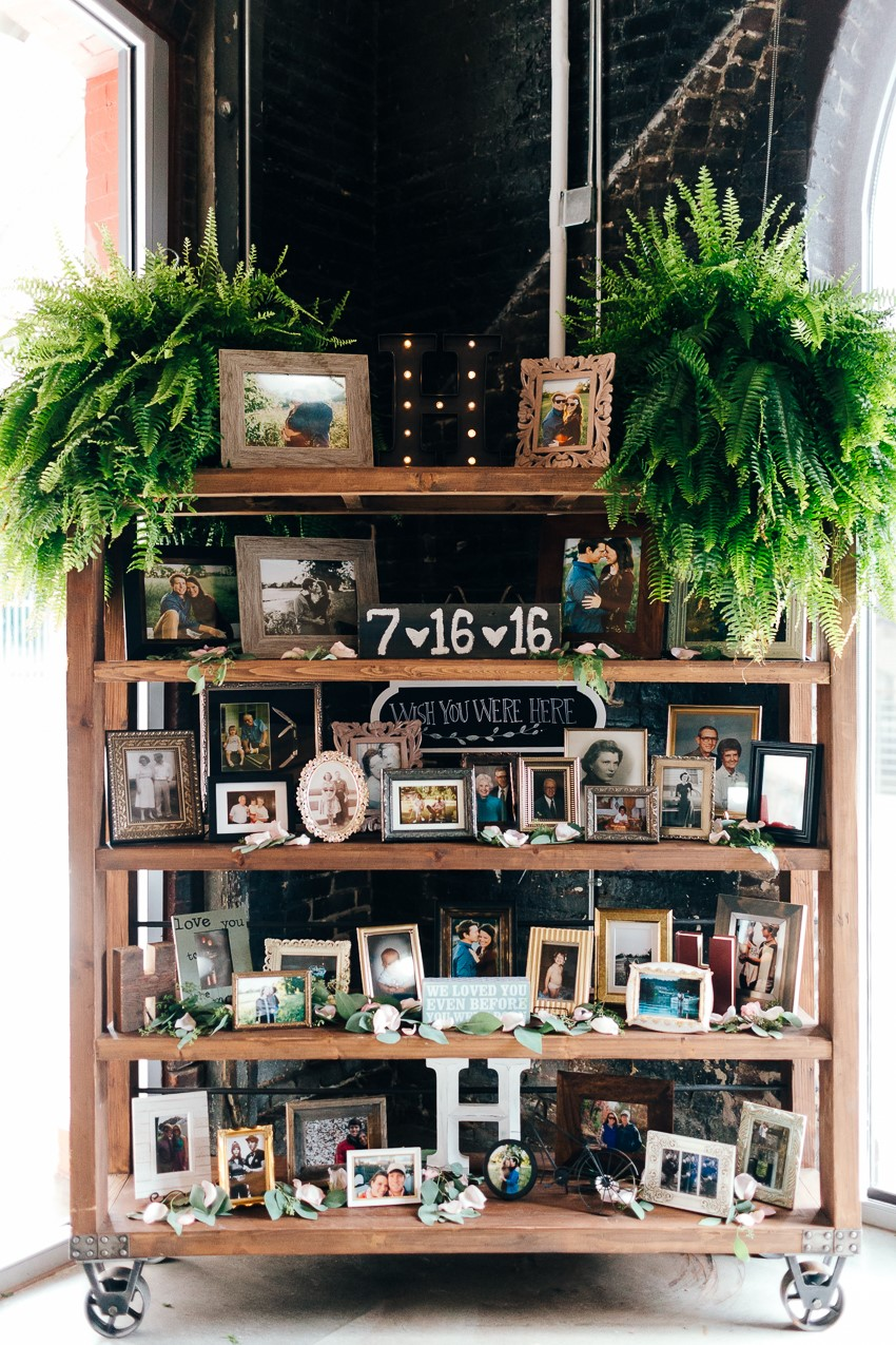 Wedding Decor Photo Display