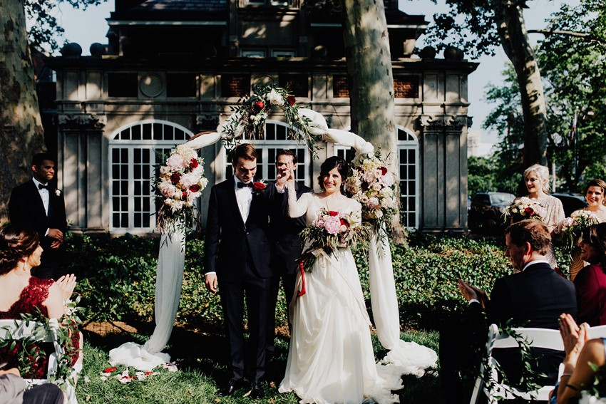 Romantic Vintage Garden Wedding Ceremony