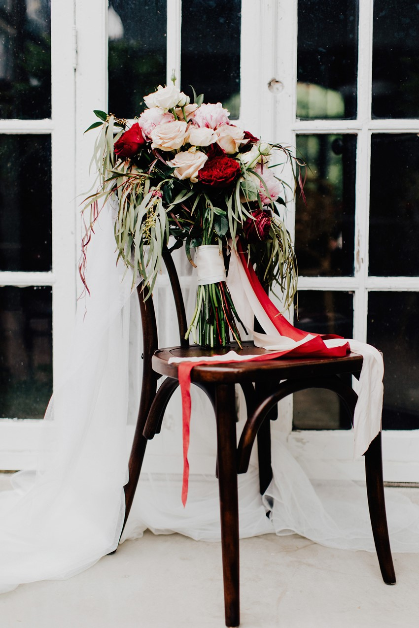 Spring Red Bridal Bouquet