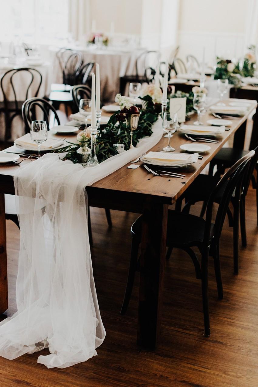Downton Abbery Inspired Wedding Reception
