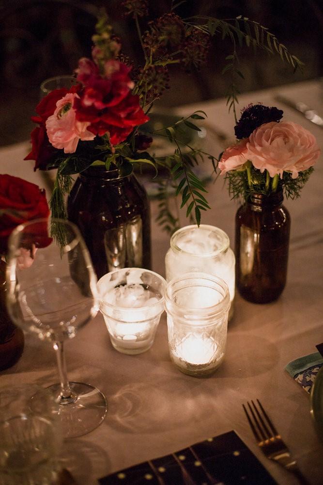 Night time wedding lighting