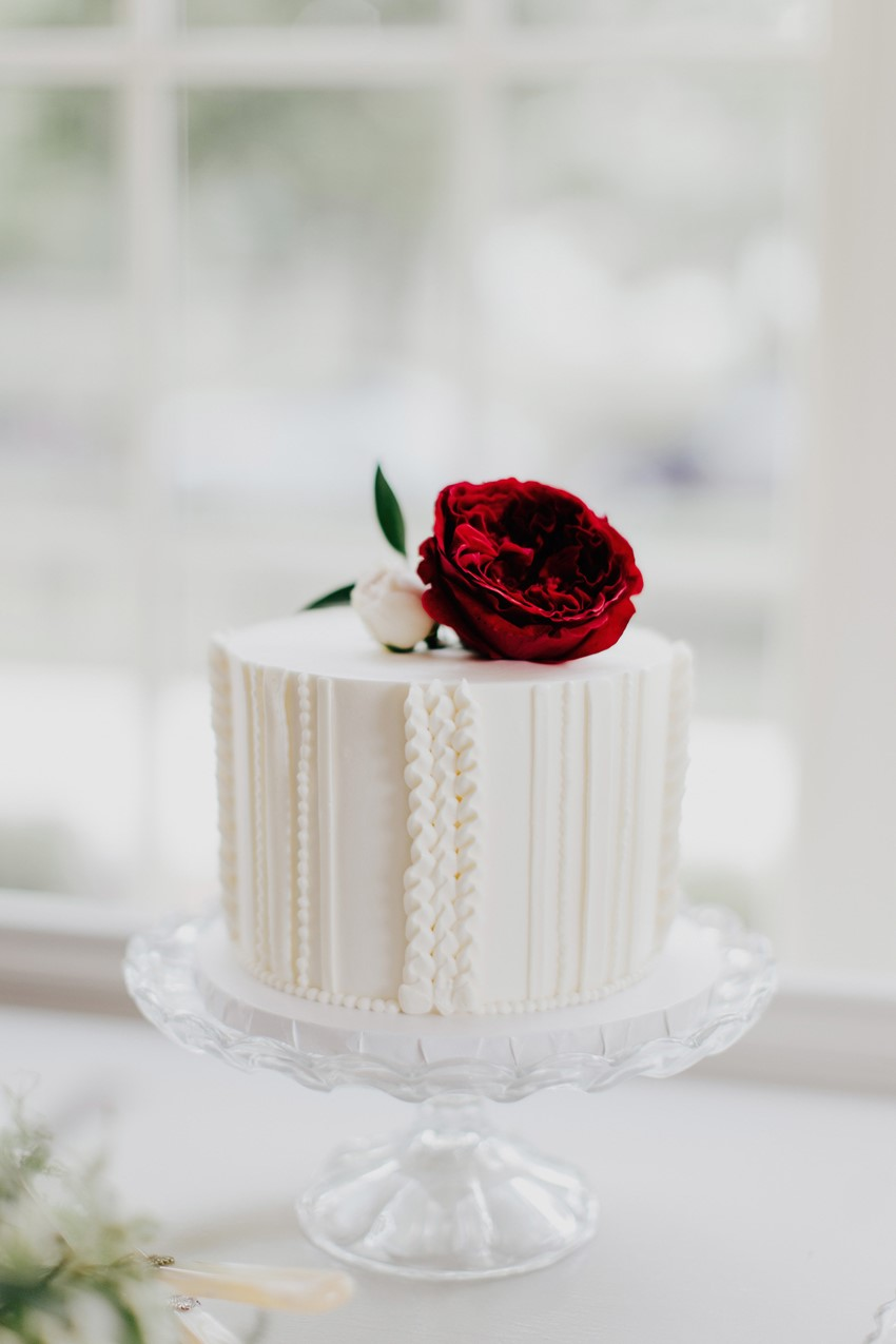 Vintage Inspired Buttercream Frosting Wedding Cake