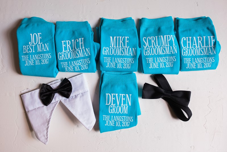 Groom & Groomsmen's Personalised Wedding Socks