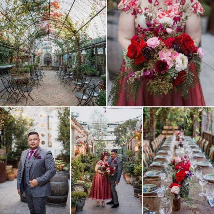 A Colorful City Garden Wedding