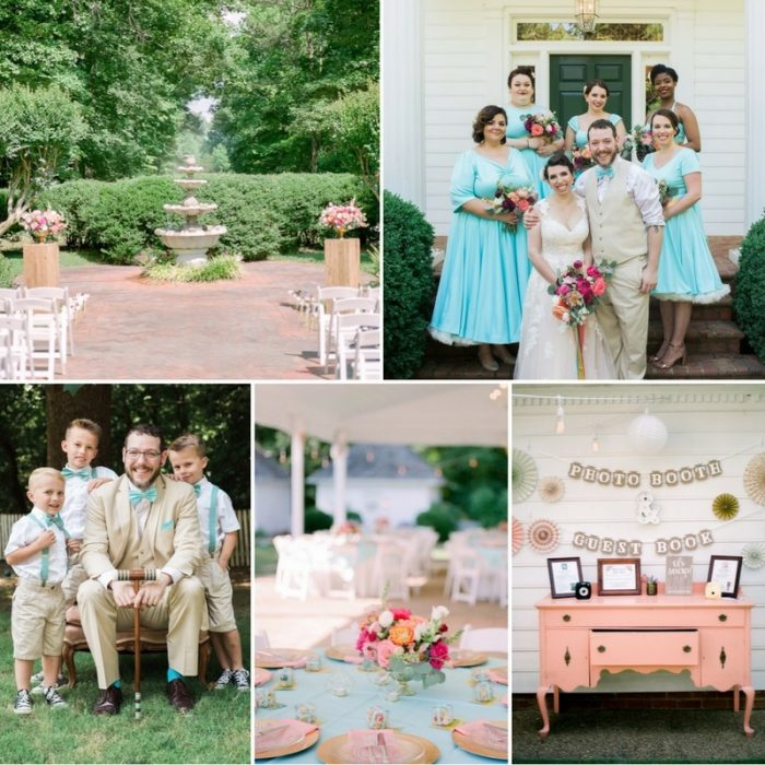 A Colorful Shabby Chic Plantation Wedding