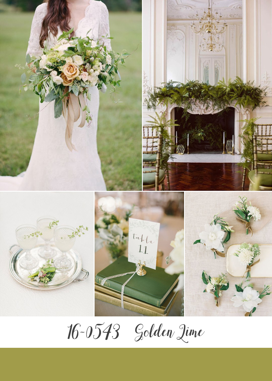Golden Lime - Pantone's Top 10 Wedding Colours for Fall 2017