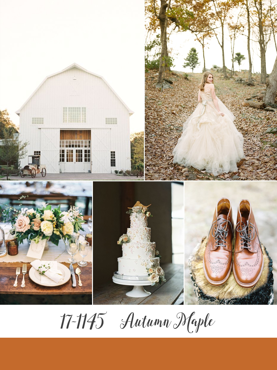 Autumn Maple - Pantone's Top 10 Wedding Colours for Fall 2017