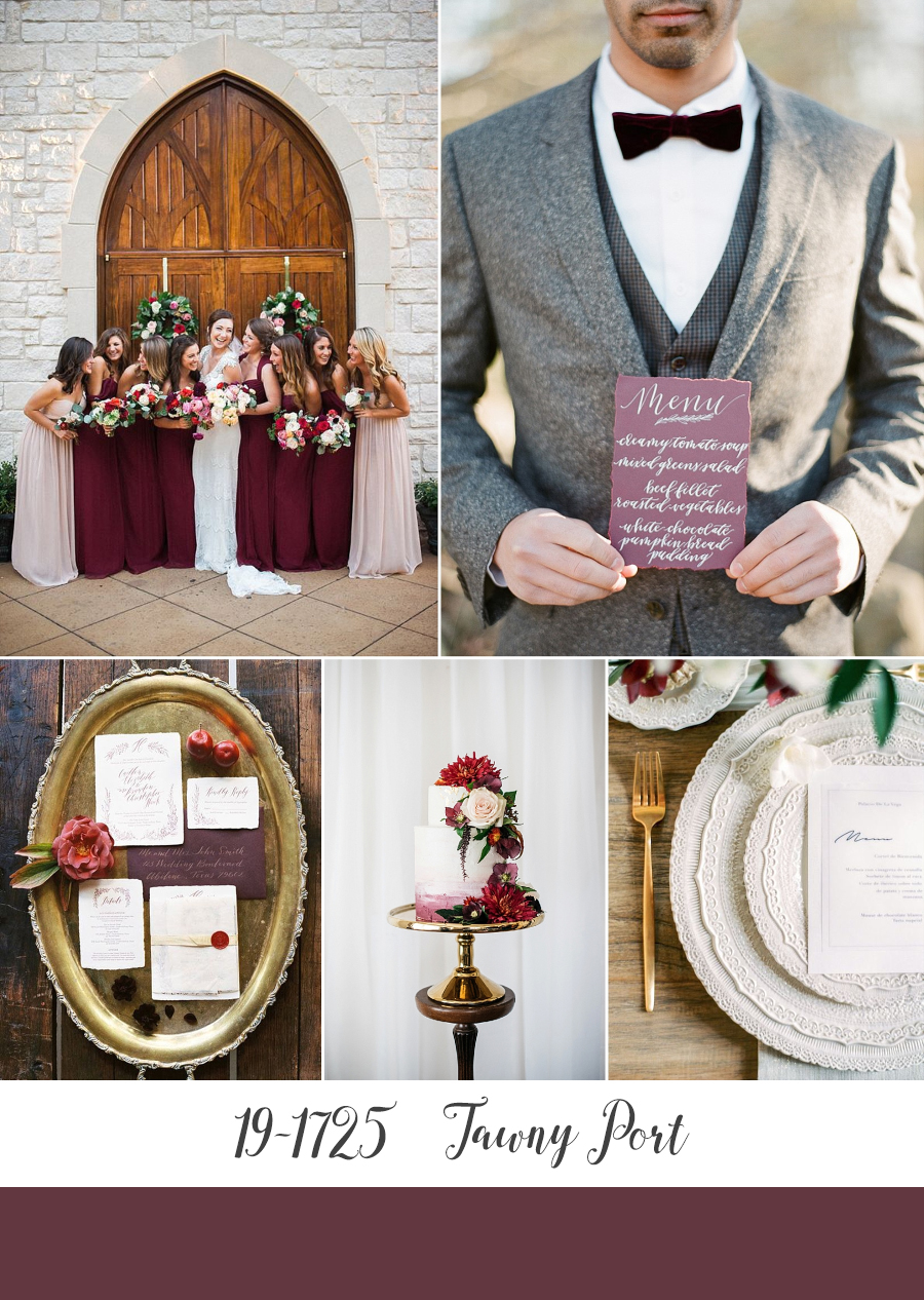 Tawny Port - Pantone Fall 2017 Wedding Colour