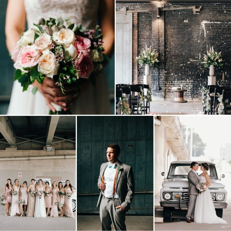 Romantic Industrial Vintage Wedding