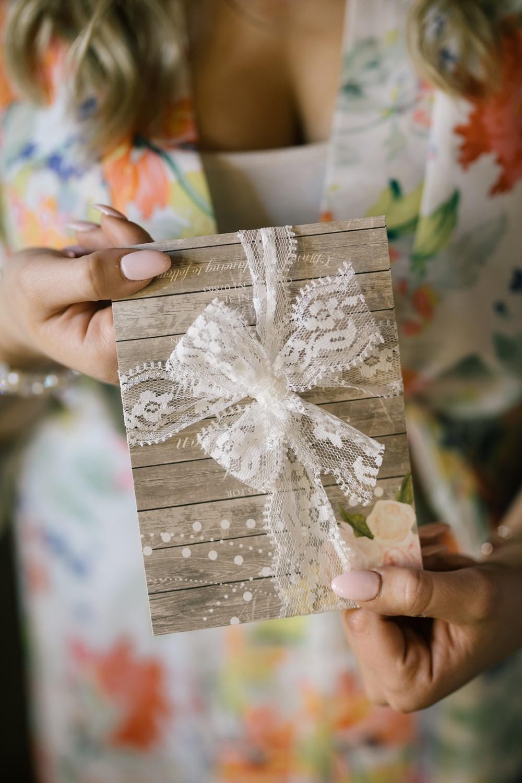 Rustic Vintage Lace Wedding Invitation
