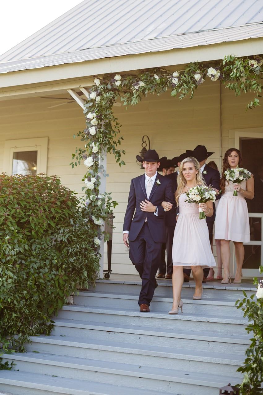 Texas Wedding bridesmaids & groomsmen