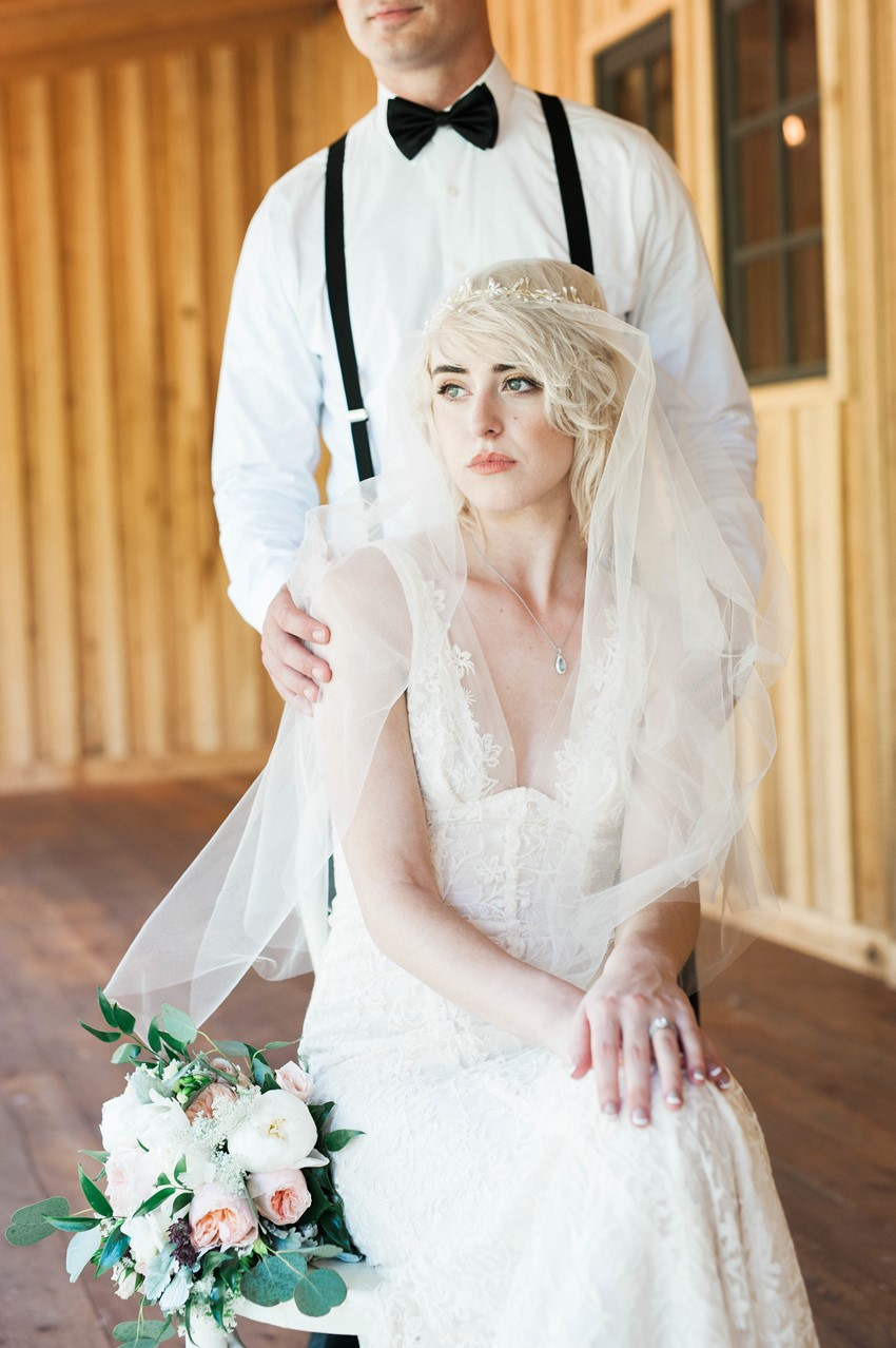 Vintage Inspired Bride & Groom