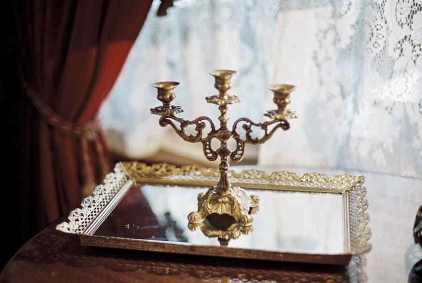 Vintage Gold Candelabra
