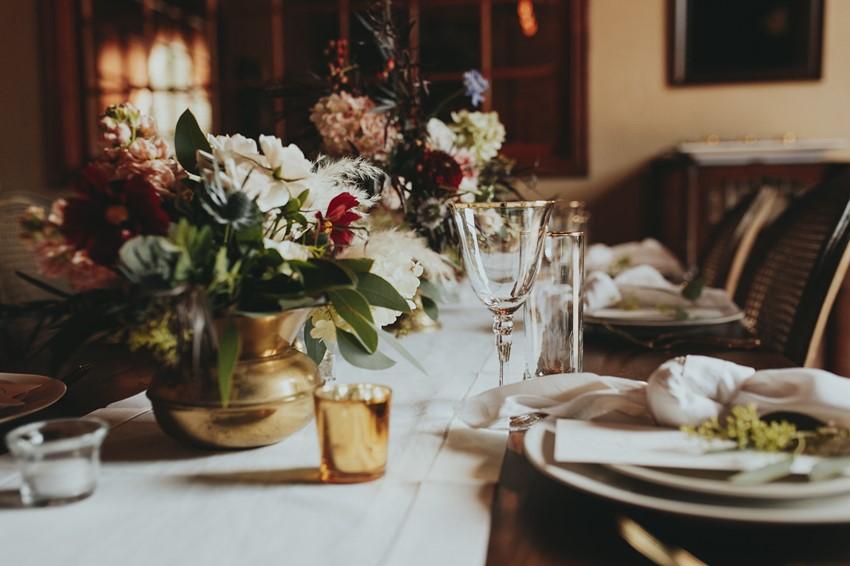 Romantic Rustic Vintage Wedding Tablescape