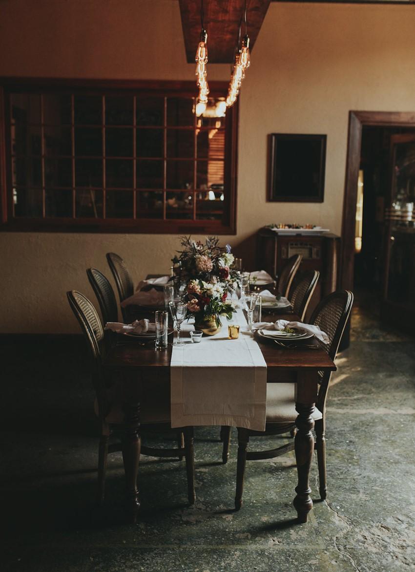 Romantic Rustic Vintage Wedding Reception