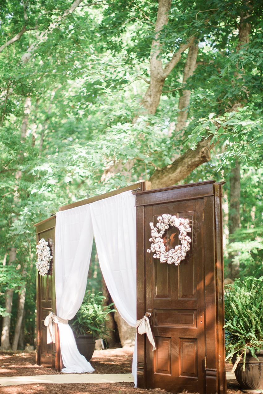 Vintage Doors Wedding Ceremony Decor