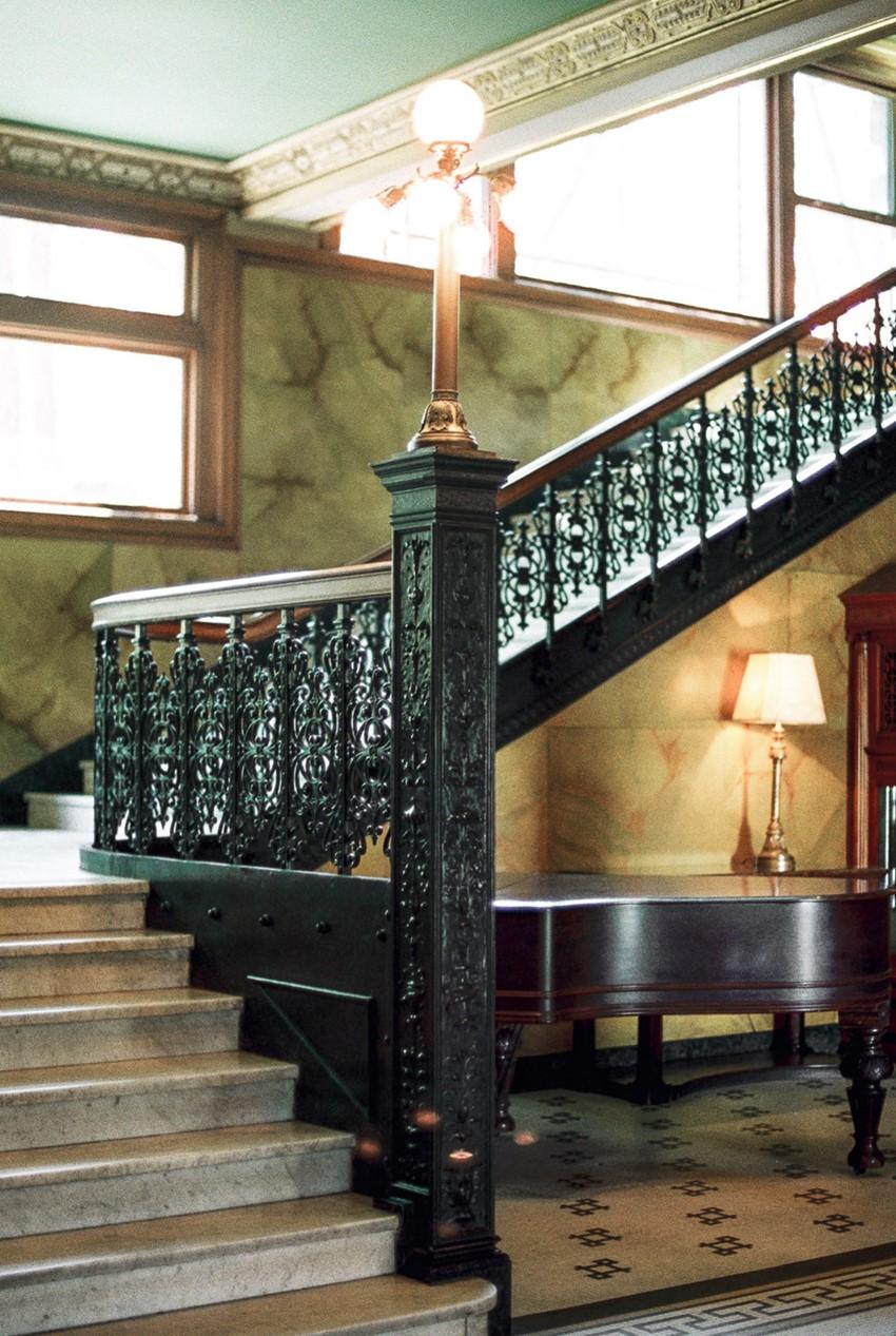 Vintage Wedding Venue Staircase