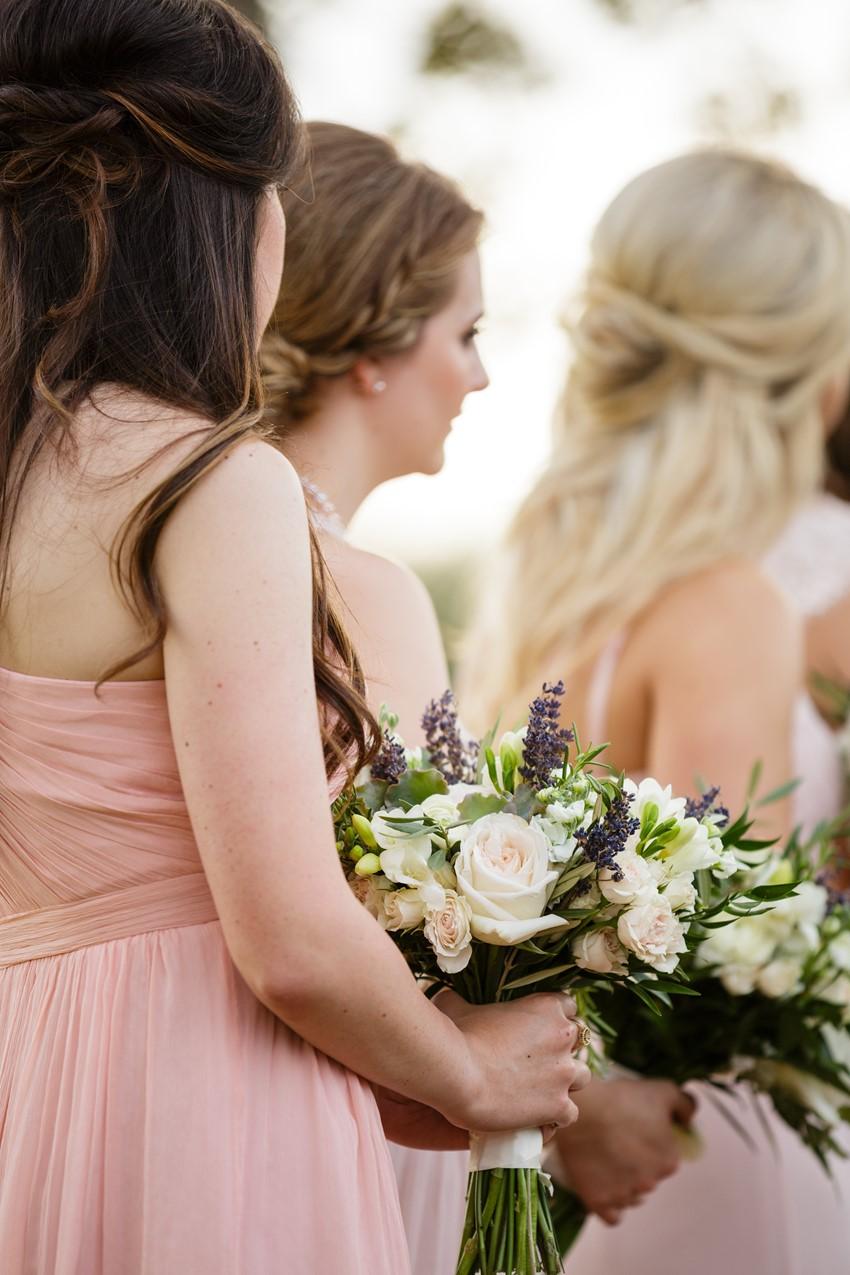 Palest Pink Mismatched bridesmaids