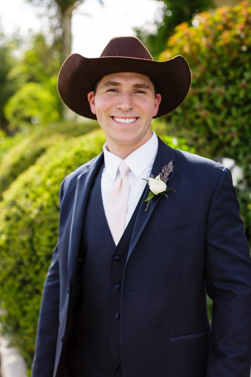 Groom in Cowboy Hat