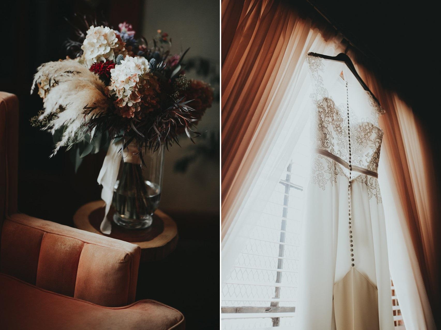 Dusky Pink Bridal Bouquet