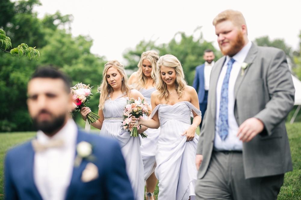 Romantic Pastel Blue Bridesmaids