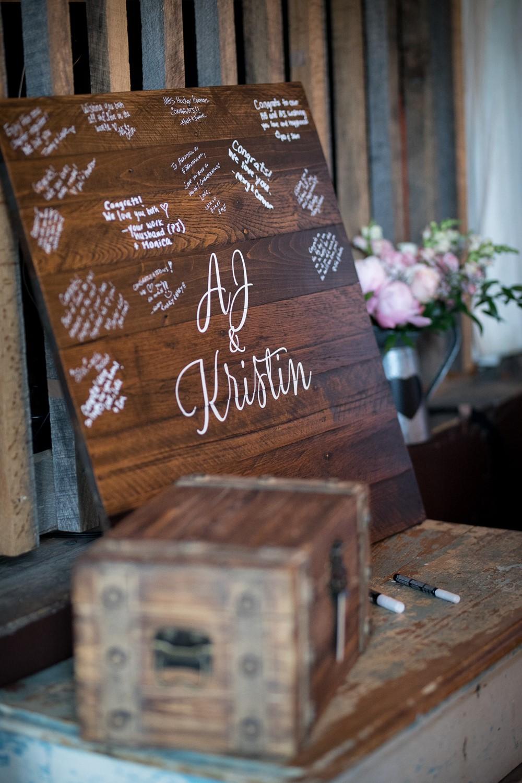 Rustic Vintage Wedding Guestbook