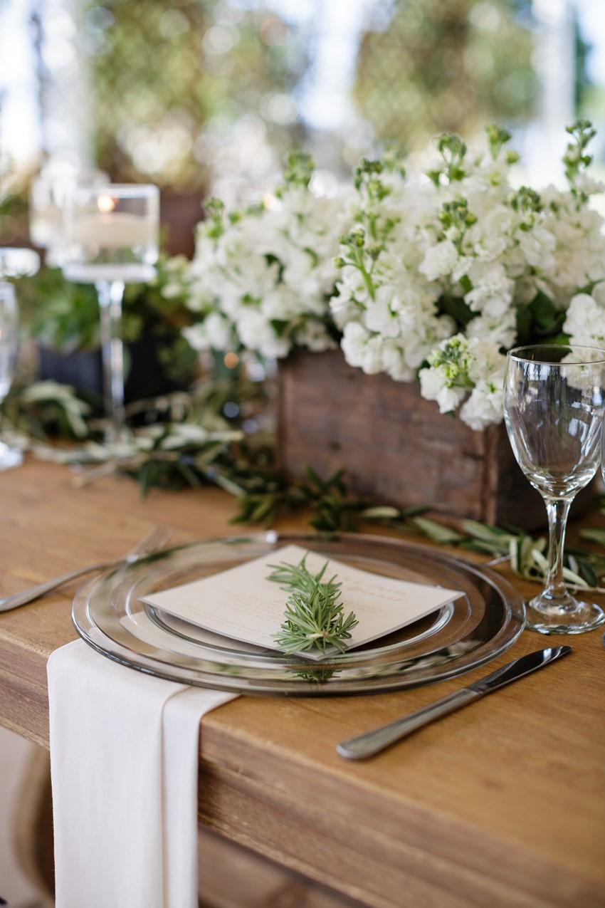 Elegant Neutral Wedding Place Setting