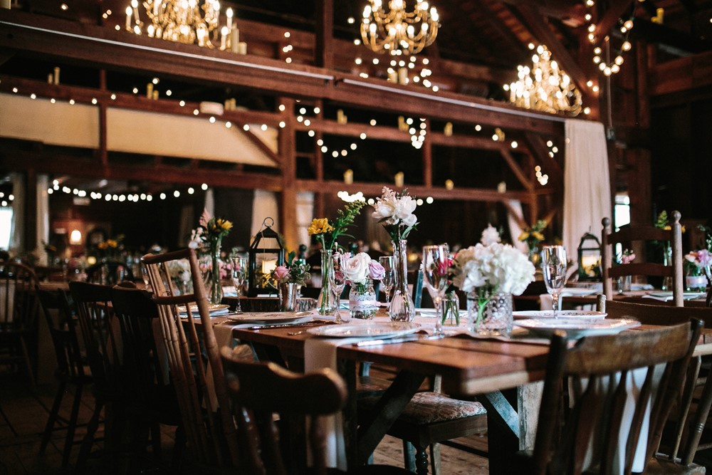 Rustic Vintage Barn Wedding Reception