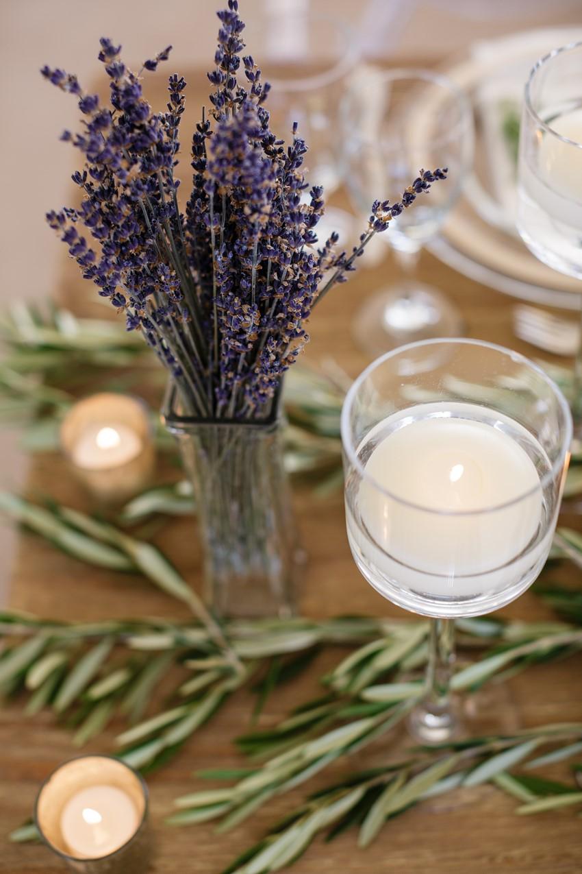 Lavender Wedding Centerpiece