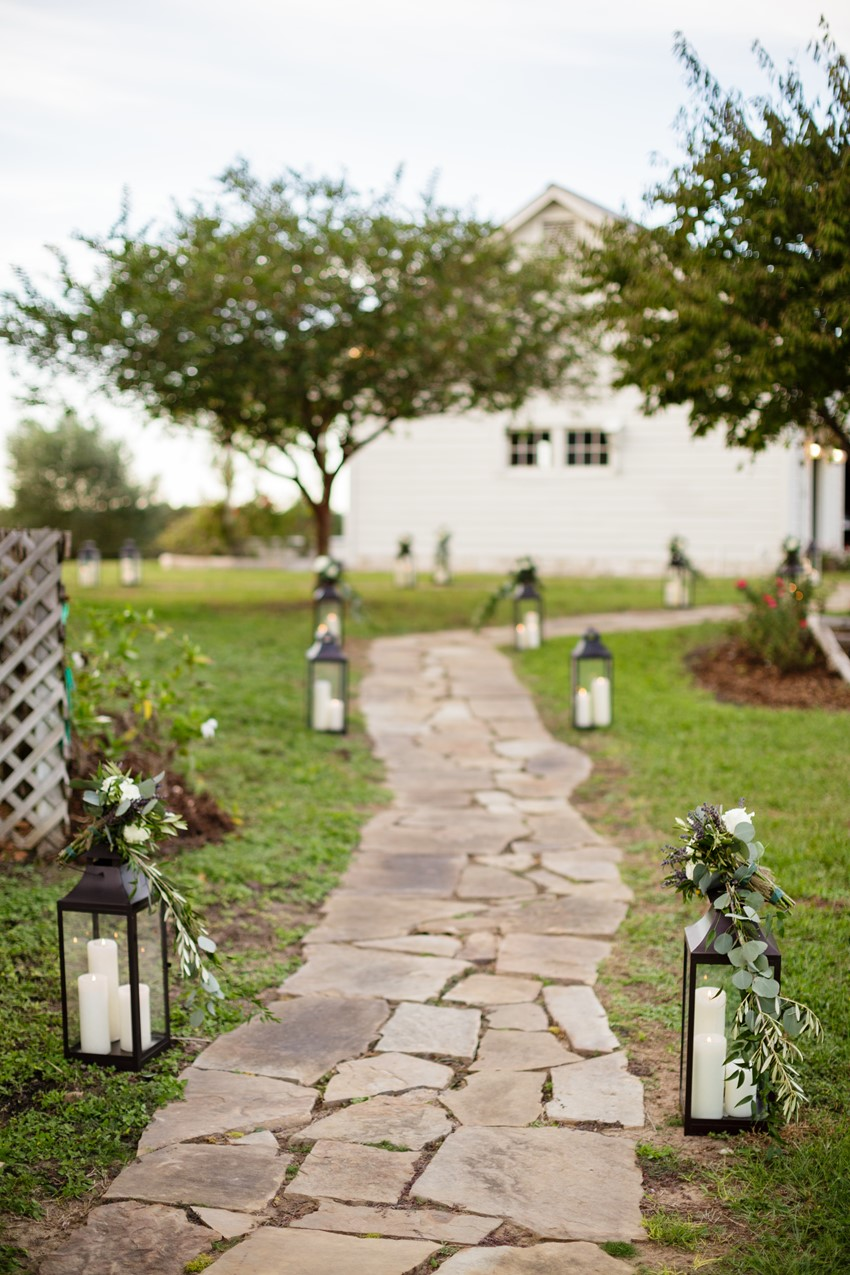 Lantern Lit Wedding Path
