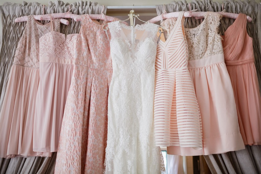 Mismatched Short Pink Bridesmaid Dresses