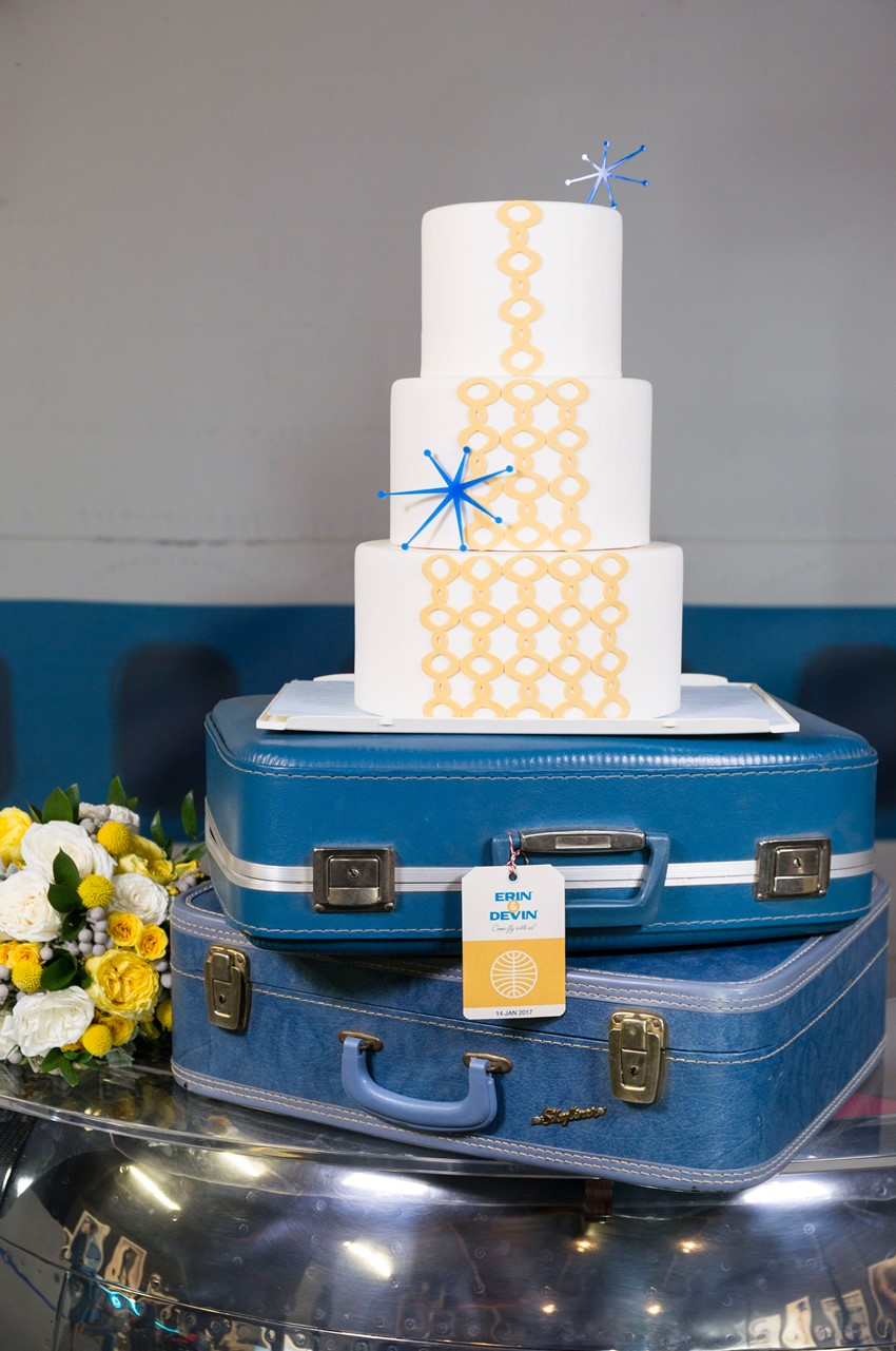 Pan Am Inspired Wedding Cake