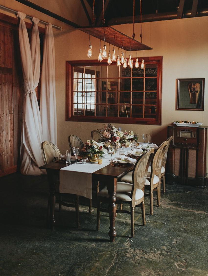 Romantic Rustic Vintage Wedding Table