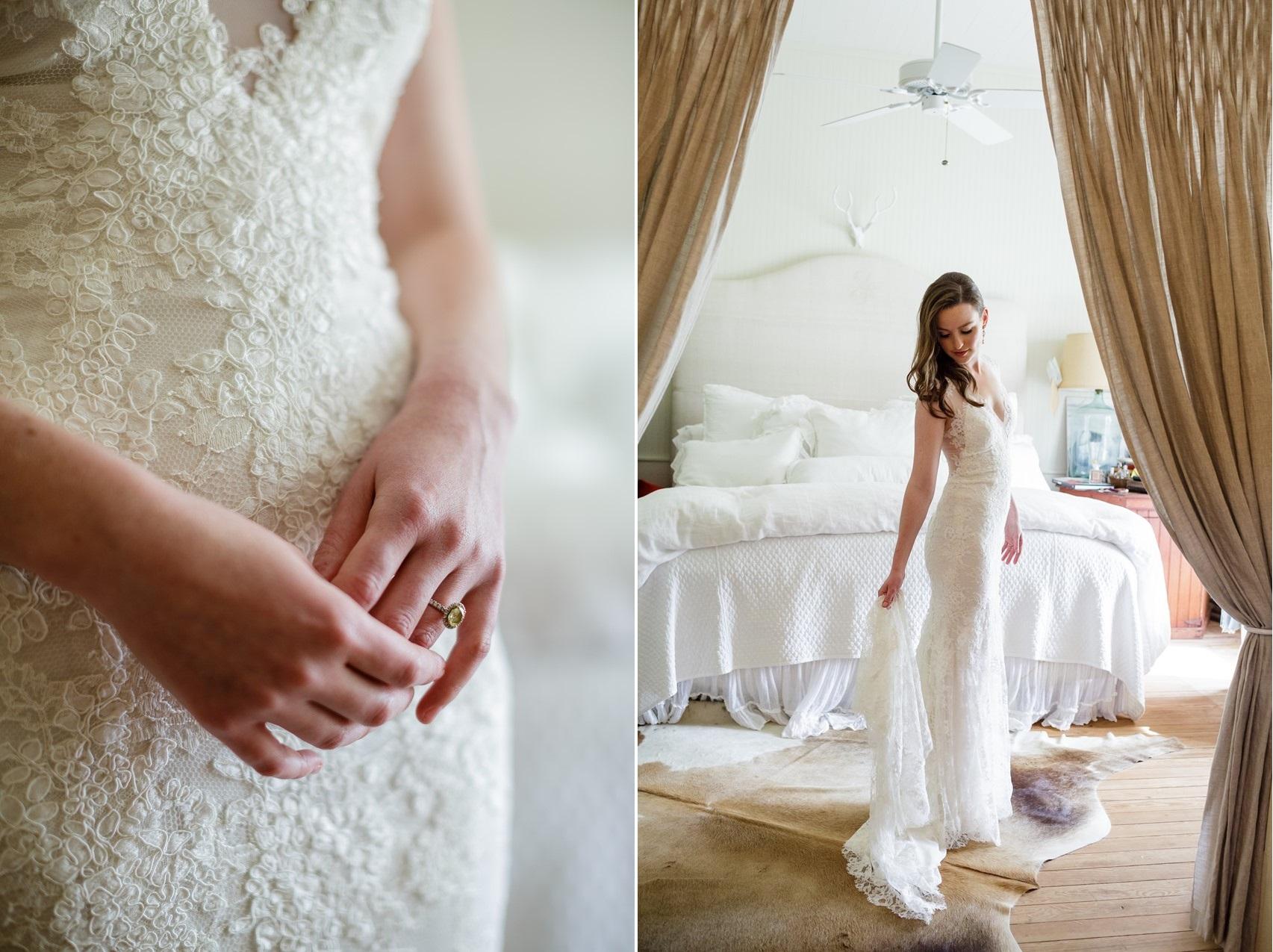 Elegant Lace Wedding Dress by Monique Lhuillier