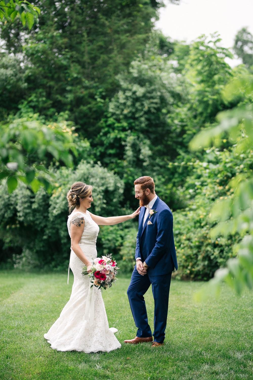 Romantic Rustic Vintage Wedding First Look