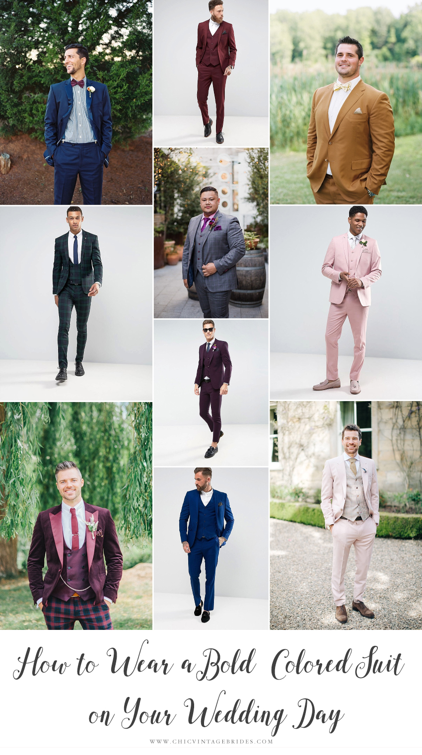 How to Wear a Bold Coloured Suit on Your Wedding Day
