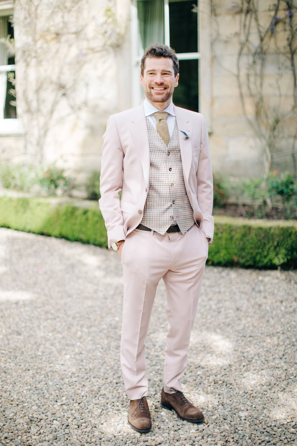 How to Wear a Bold Colored Suit on Your Wedding Day - Chic Vintage ...