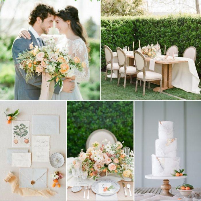 Romantic Citrus Wedding Inspiration at Cornerstone Sonoma