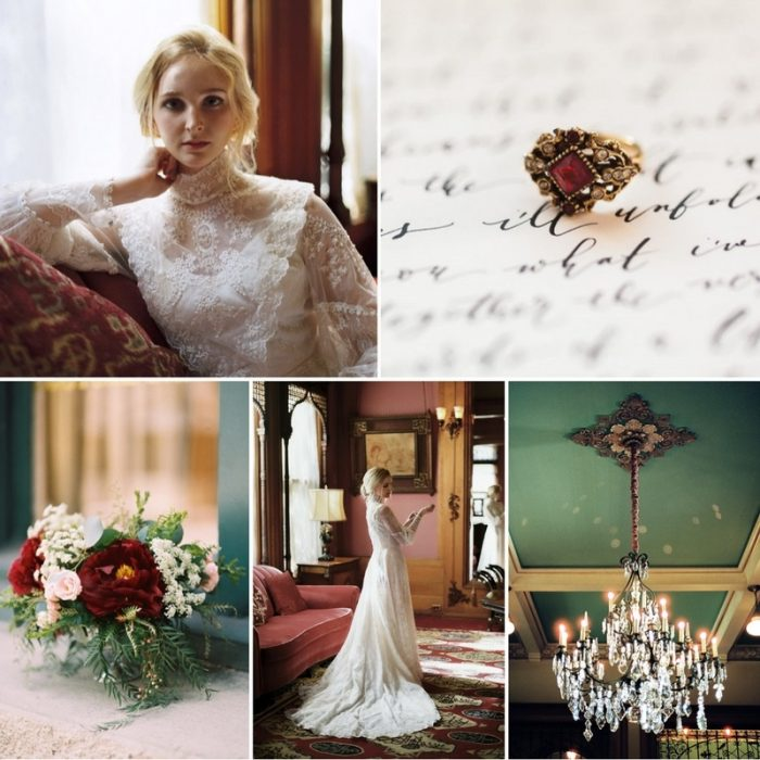 Victorian Inspired Bridal Shoot at the Castle Green