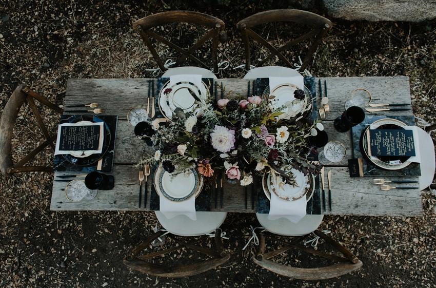 Halloween Wedding Tablescape