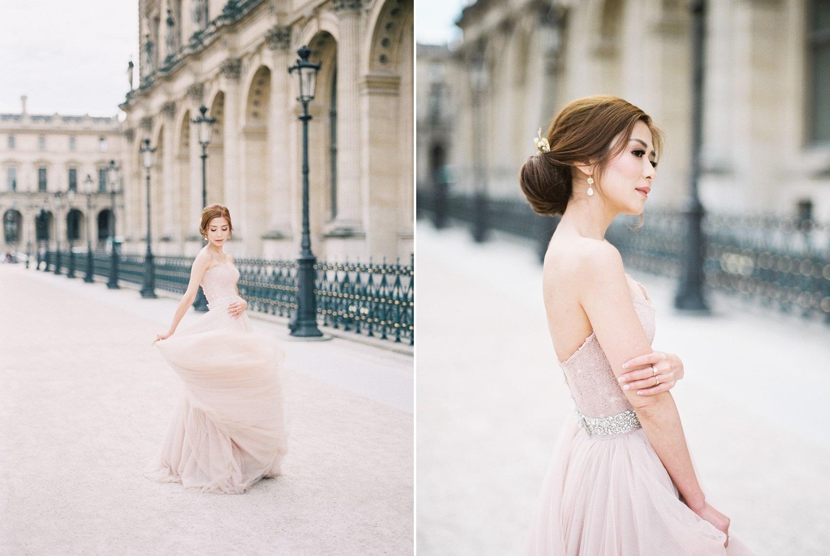 Romantic Blush Pink Bridal Gown