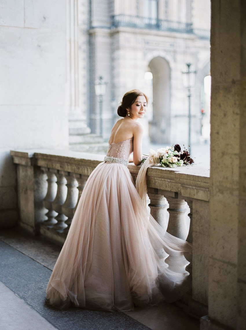 Romantic Blush Bridal Gown
