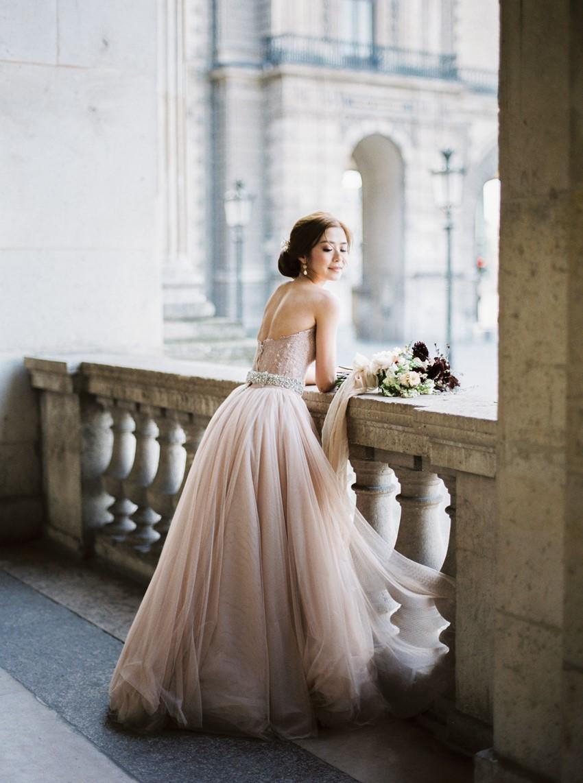 Romantic Blush Bridal Gown