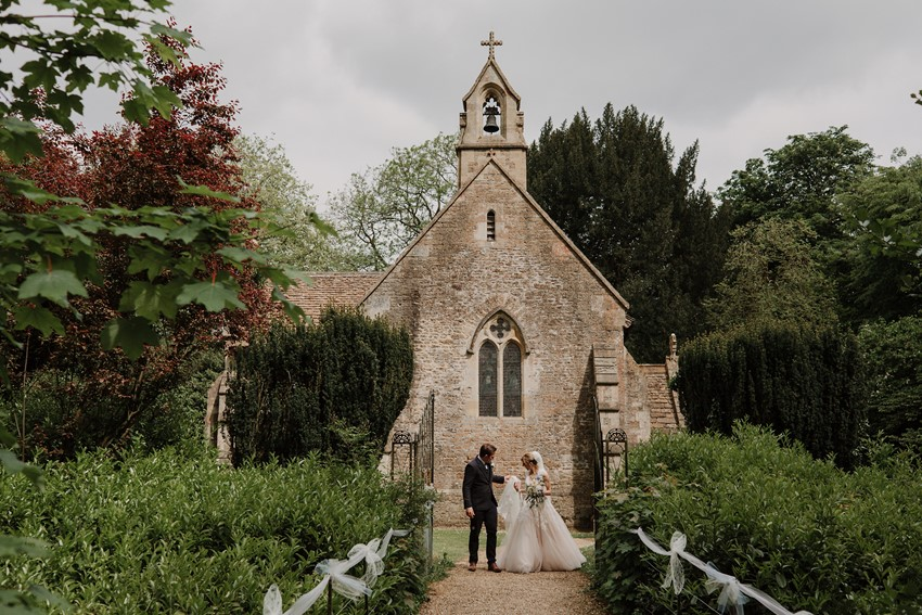 Romantic English Country Church Wedding