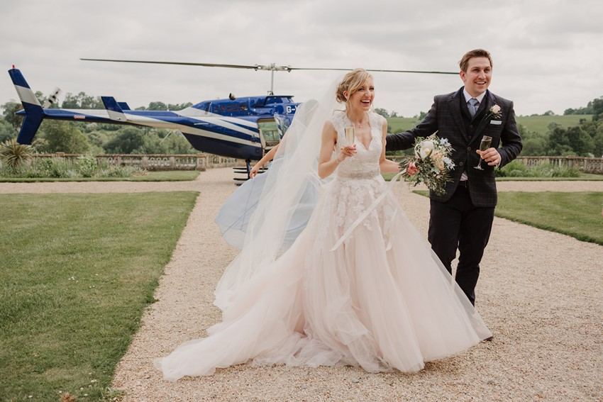Helicopter Wedding Transport