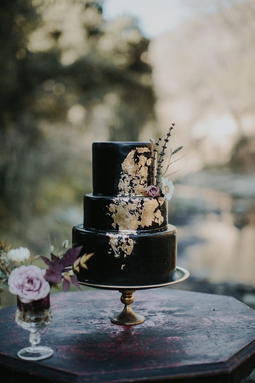 Halloween Black Wedding Cake