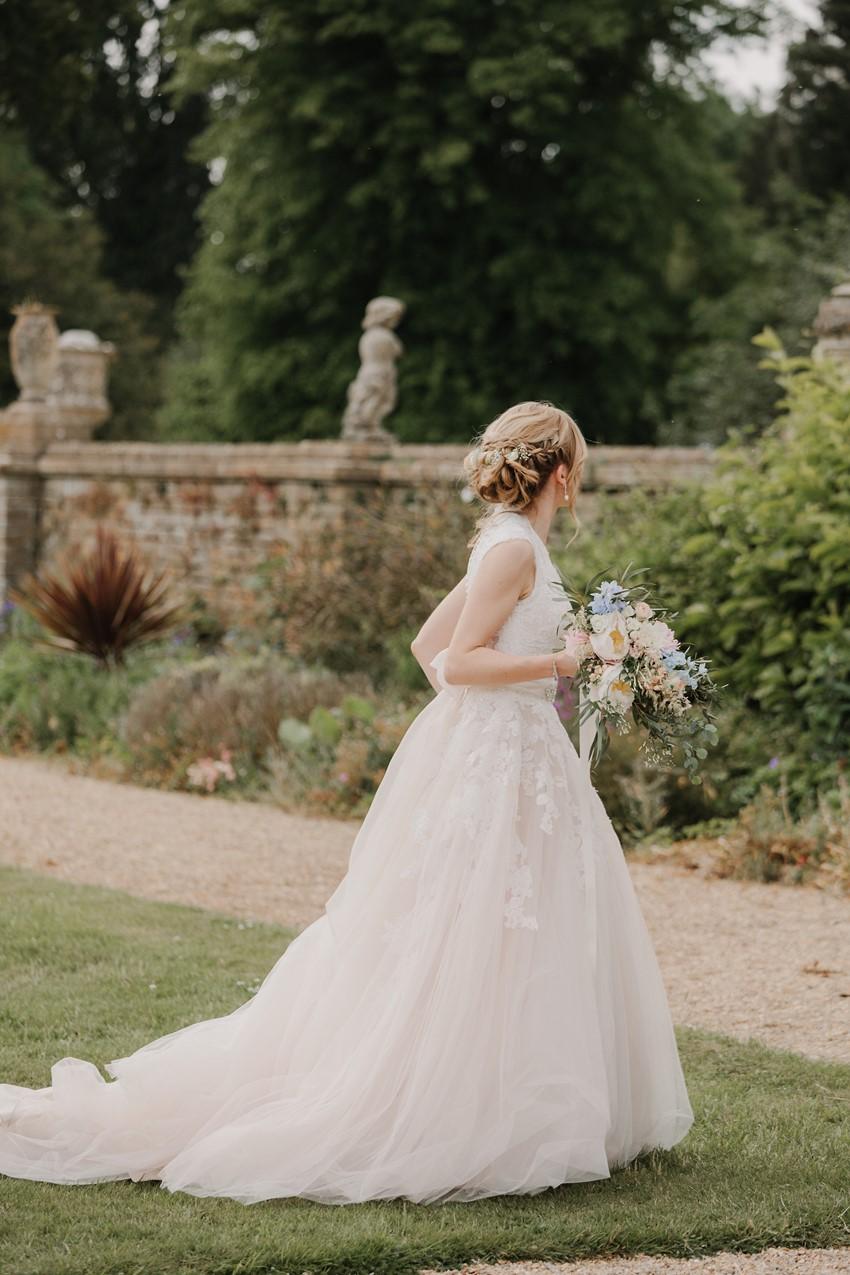 Romantic Blush Wedding Dress