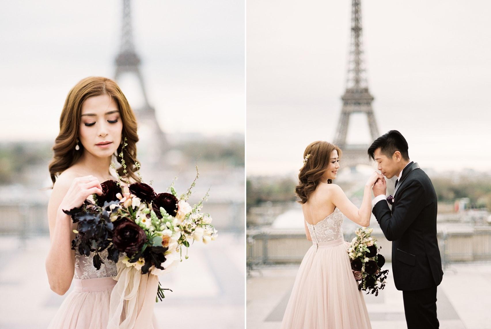 Eiffel Tower Paris Wedding Photos