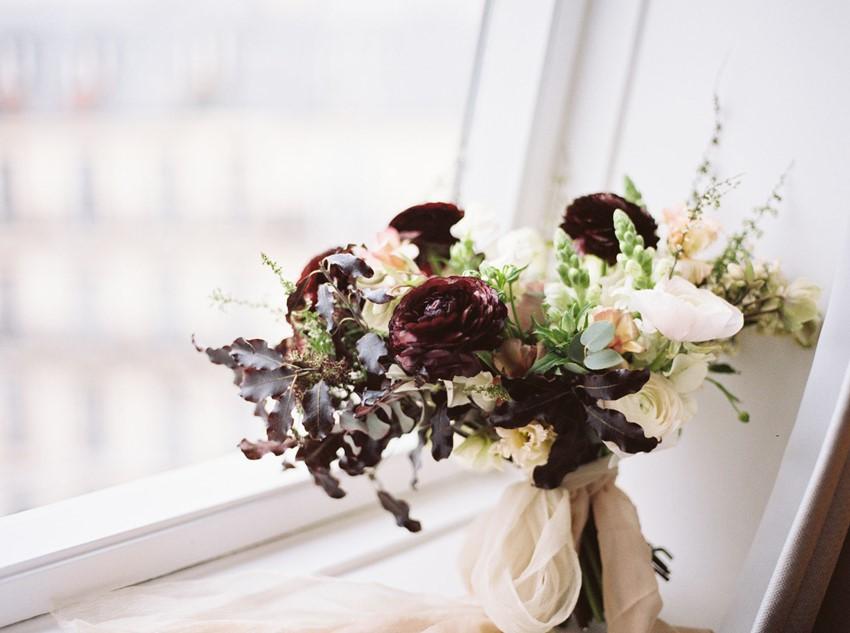 Deep Wine Bridal Bouquet