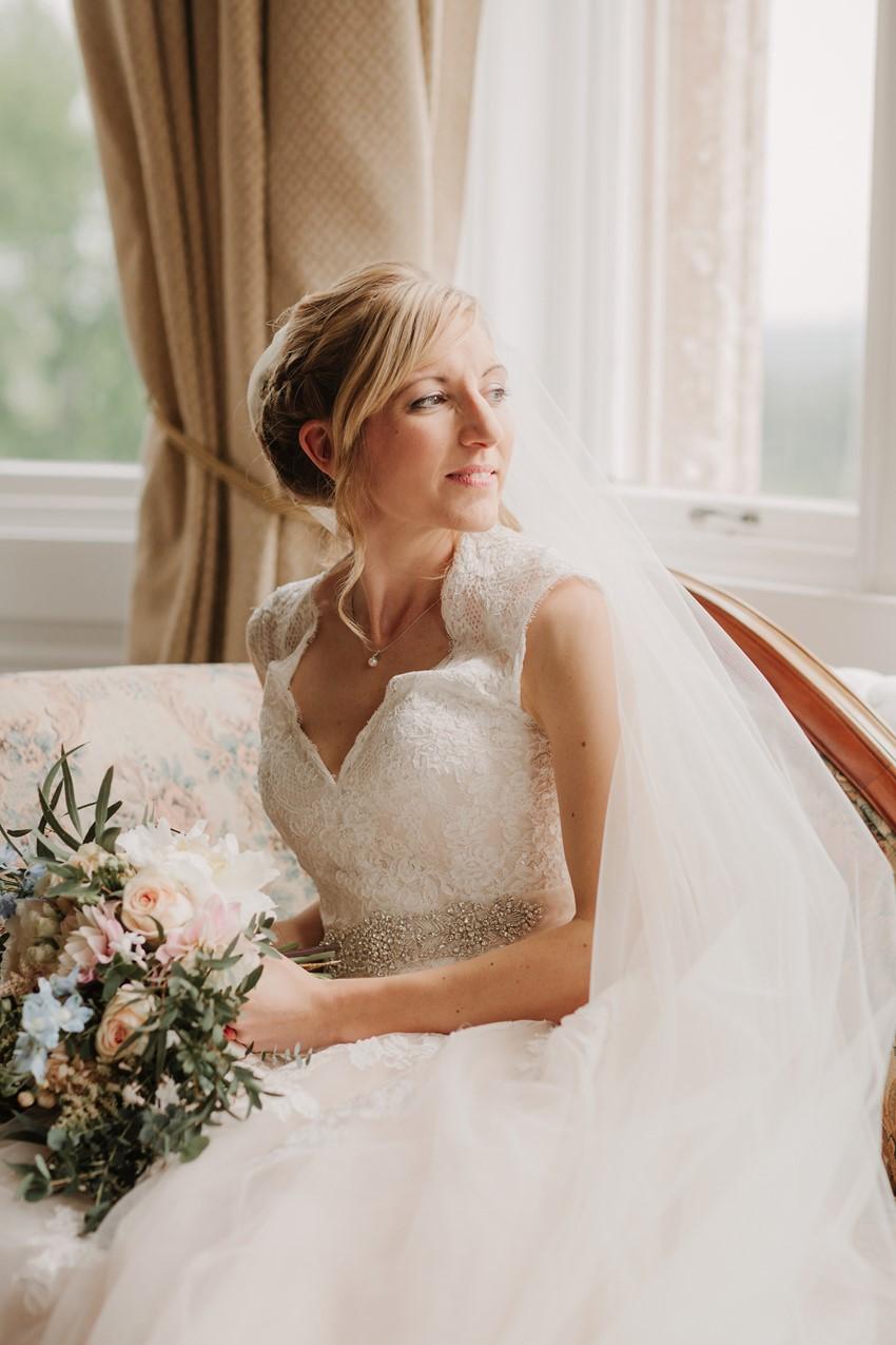 English Country Wedding Bride Getting Ready